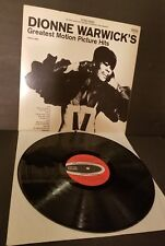 DIONNE WARWICK: Greatest Motion Picture Hits LP embossed cover EXCELLENT COND.
