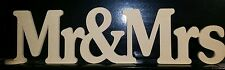 Large Mr and Mrs Mr&Mrs FREESTANDING sign plaque . Custom made centrepiece