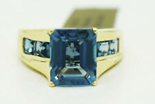 GENUINE 6.47 Cts BLUE  ZIRCON RING 10K GOLD ** Made in USA ** FREE APPRAISAL **