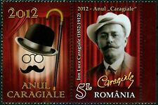 2012 CARAGIALE,Playwright,Bowler hat,Walking stick,Theatre,Romania,6595,TAB/L,NH