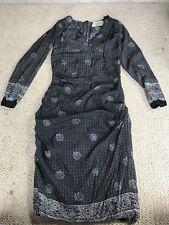 Anthropologie Black And White Print Samantha Sung/ Silk Dress  Size 2
