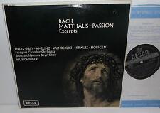 SXL 6272 Bach Matthaus Passion Excerpts Stuttgart Chamber Orch Munchinger ED3 WB