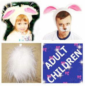 Animal Rabbit Fancy Dress 2ps Set Hat Tail Children Adult Carnival Costume Party