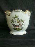 Herend Rothschild Porzellan Übertopf Vögel 19,5 cm handbemalt Blumentopf ! TOP !