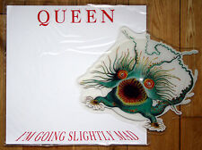 EX/EX! QUEEN I'M GOING SLIGHTLY MAD SHAPED PICTURE PIC DISC