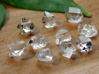 Set of 10 Herkimer Diamond Quartz Crystal, Authentic NY Herkimer Diamond Quartz