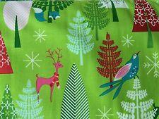 By 1/2 Yd  Michael Miller Winter Woods Garland Tamara Kate Festive Forest Fabric