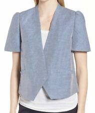 7a9676b3f Nordstrom Signature Women Linen Cotton Puff Sleeve Jacket 11238 Size M