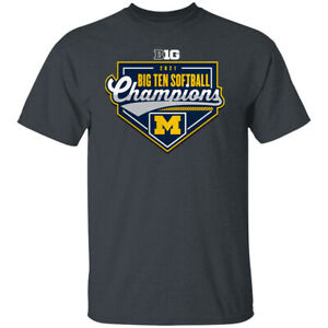 Men's Michigan Wolverines 2021 Big Ten Softball Season Champions  T-shirt S-4XL