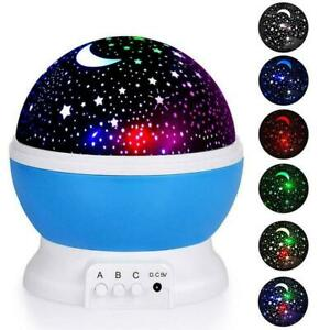 Starry LED Rotating Projector Night Light Star Sky Light Kids Lamp HOT V2S4