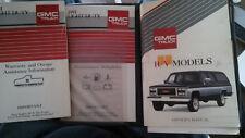 Original 1991 GMC RV Chevy Silverado Owners Manual Nice