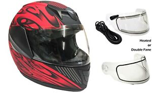 Youth Kids Snowmobile Helmet Matte Red Child DOT Full Face Small Medium Large XL