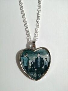 Silver Plated Heart Pendant Necklace Supernatural Sam Dean Winchester Castiel