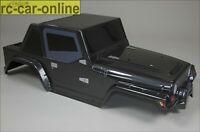 FG Monster/Stadium Jeep Karosserie, schwarz, 2WD - 40130 - body shell black