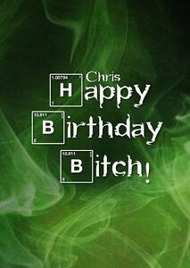 Personalised Breaking Bad Inspired Birthday Card