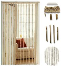 Natural Bamboo Beaded Door Curtain Hanging Summer Insect Fly Screen 180 x 90 cm