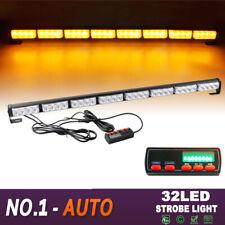 "36"" 32 LED Flash Traffic Adviser Directional Arrow Strobe Light Bar Amber Yellow"