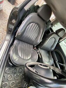 BMW Mini Park Lane Black & Grey Full  Lounge Leather seats Interior R50 R53
