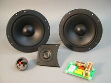 """2 Way Speaker Kit Dual 8"""" Woofers for Clean Tight Bass 8 ohm Center or Bookshelf"""