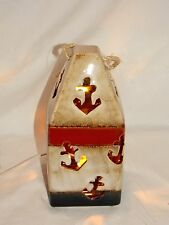 New Ocean Boat Buoy & Anchor Electric Accent Table Top Nightlight Night Light