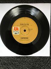 Carpenters - Close To You / I Kept On Loving You 7'' Vinyl Oz AMK-3743 (1970) EX