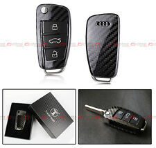 DELUXE CARBON FIBER KEY CASE FOR AUDI Q3 Q5 Q7 TT FOB REMOTE RETRACTABLE KEY