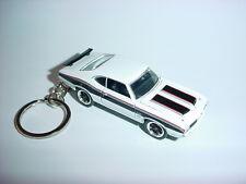 NEW 3D WHITE 1972 OLDSMOBILE 442 CUSTOM KEYCHAIN keyring key Beautiful 72' W-30