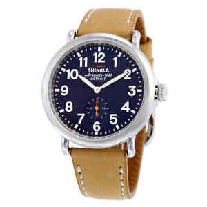 Shinola Runwell Blue Dial Tan Leather Men's Watch 11000144