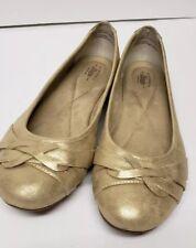G.H. Bass Co. gold matilda flat shoe women's size 8.5 W