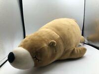 Large Miniso Life Sleeping Brown Bear Plush Kids Soft Stuffed Animal Toy Doll