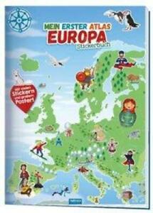 Trötsch Stick*rbuch Mein erster Atlas Europa   Taschenbuch   Deutsch   2020