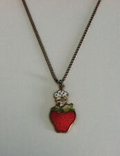 Strawberry Shortcake Necklace Collectible - Free Shipping - Excellent Condition