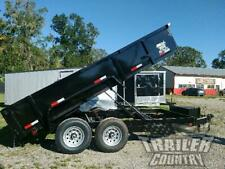 New 2021 7x16 7 X 16 14k Gvwr Hydraulic Dump Trailer Equipment Hauler 24 Sides