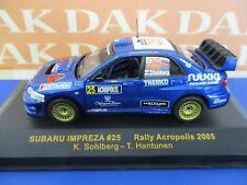 Die cast 1/43 Modellino Auto Subaru Impreza WRC N25 Rally Acropolis 2005