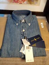 Polo Ralph Lauren Men's Classic Fit Polo  Denim Shirt  BLUE  SMALL