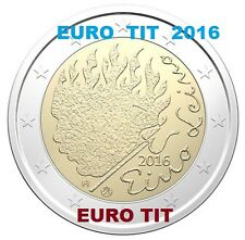 2 €   FINLANDE  1  X COMMEMORATIVE      EINO   LEINO     2016      disponible
