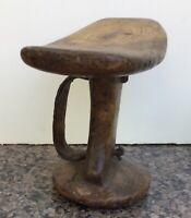 Vintage Turkana ( African, Kenyan) wooden tribal head rest/  pillow/ stool