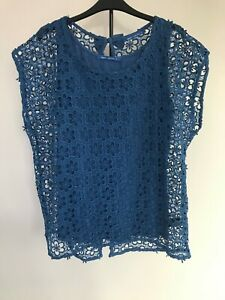 Beautiful Blue Next Embroidered 2-in-1 Top 3 Ways 2 Wear Bow Detail Open Back 20
