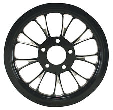 """Ultima Black Cut Manhattan Pulley 1"""" Wide, 65 Tooth 99'- Earlier & 00-Later"""