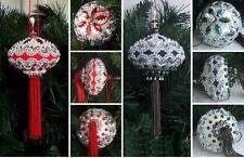 (LOT X2) VTG STUNNING 2 Ornament KIT Holiday Elegance  / Pearls Sequins Beads
