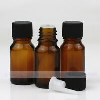 5ml 10ml Amber Glass Bottles with Cap Euro Dropper  Essential Oil Aromatherapy