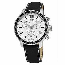 Tissot Men's Quickster White Chronograph Dial Swiss Quartz Watch T0954171603700