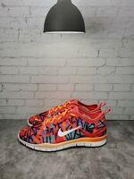 NIKE 629832-600 FREE 5.0 TR FIT 4 PRINT Size 9.5 Women Running Shoes Red Orange
