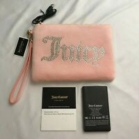 Juicy Couture Clutch Purse Pink Label Rhinestone Wrist-let Black Velvet NWT $228