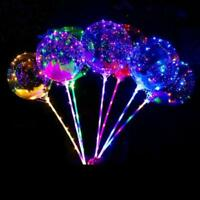 "20"" LED Light Up Balloons Transparent Wedding Birthday Xmas Party Decor Quality"