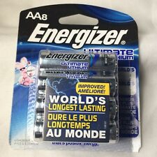8-PACK Energizer Ultimate Lithium AA -NEW!!Batteries  Exp. 2037 (L91BP-8)