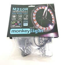 MonkeyLectric LED USB ReCh Bike Wheel Spoke Color Monkey Light M210R