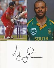 SOUTH AFRICA & LANCASHIRE: ASHWELL PRINCE SIGNED 6x4 WHTECRD+UNSIGNED PHOTOS+COA