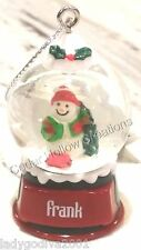 Personalized Snow Globe Ornament - Frank - FREE Shipping