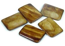 35x25mm Bronze Mother of Pearl Rectangle Pendant Beads (5)